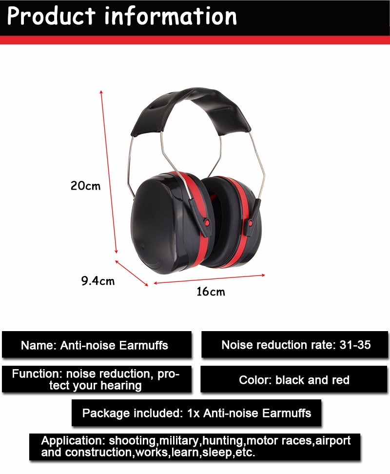 Anti-noise Ear Muffs Outdoor Hunting Shooting Ear Protector Sleep Soundproof Ear Muff