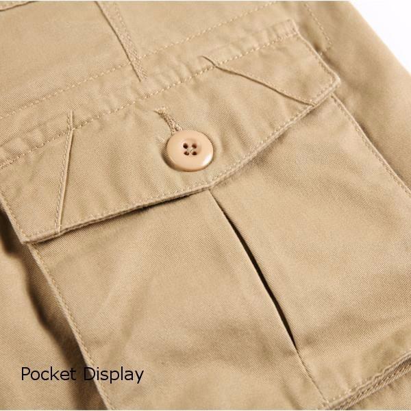 Men Cotton Multi Pockets Casual Loose Cargo Shorts