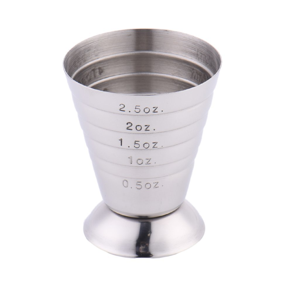 KCASA KC-SN07 75ml/5tbsp Stainless Steel Wine Measuring Cup Tools With Scale Spirit Cocktail Jigger