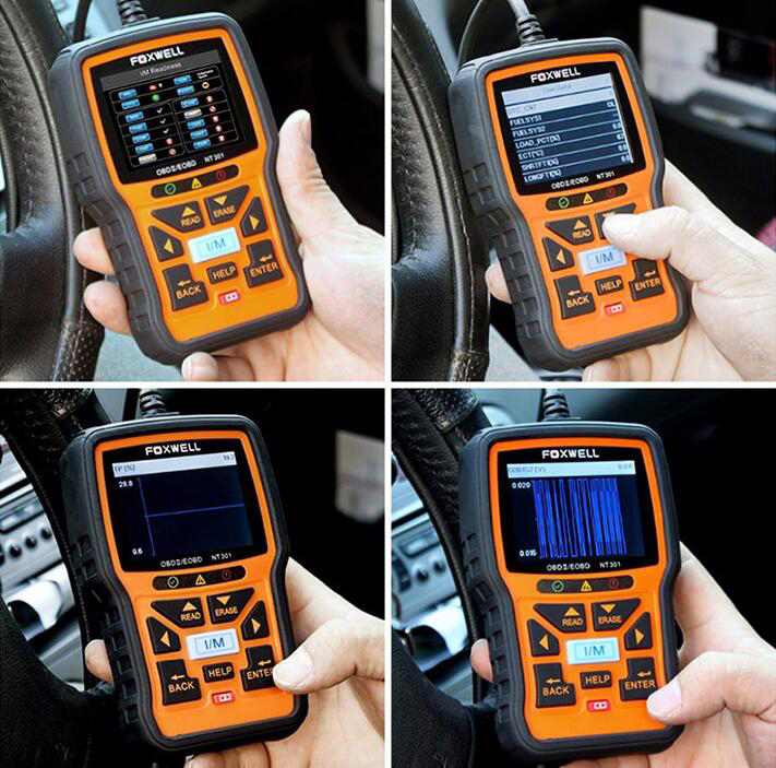 FOXWELL NT301 OBD OBD2 Engine Multi-languages Universal Car Diagnostic Scanner
