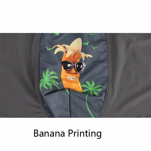 Men's Sexy Breathable Banana Prints 6 Color Net Yarn Boxers Underwear