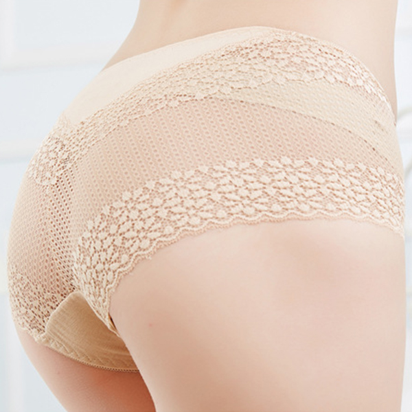 Banggood Lace Comfortable Seamless Hollow Out Breathable Hip Panty Low Waist Panties For Women