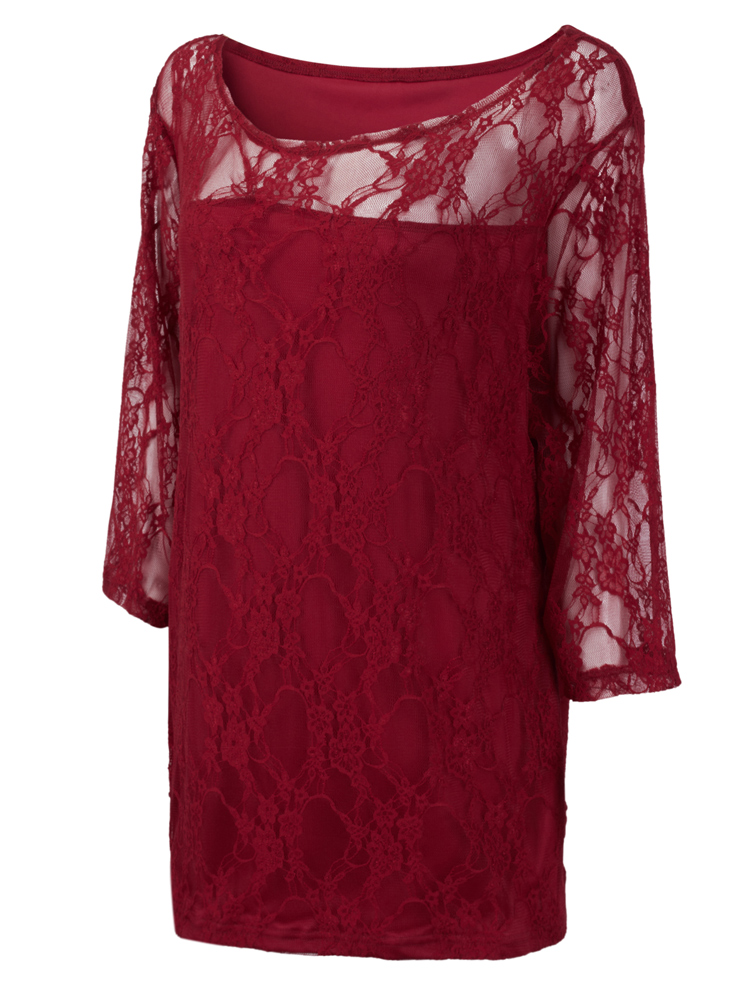 Elegant Sexy Lace Hollow Out T-Shirt For Women