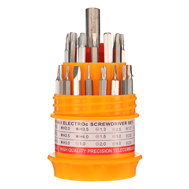 31 in 1 Multifunctional Batch of Head Screwdriver Set Small Hand Combination Tools Kit
