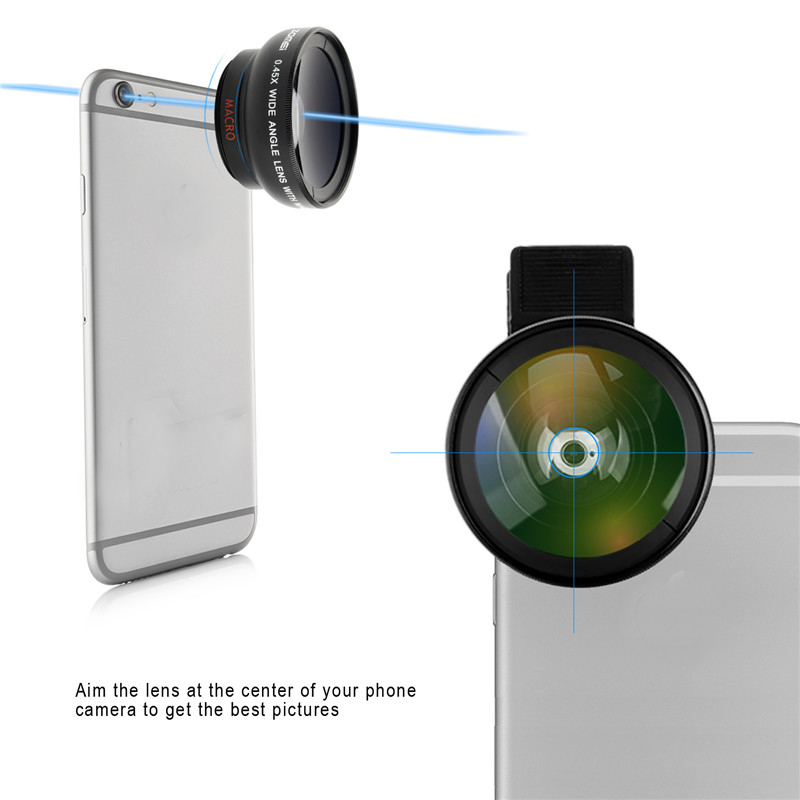 ZOMEI Universal 0.45X Wide Angle with 12.5X Macro Camera Lens for iPhone Huawei Samsung Smartphone