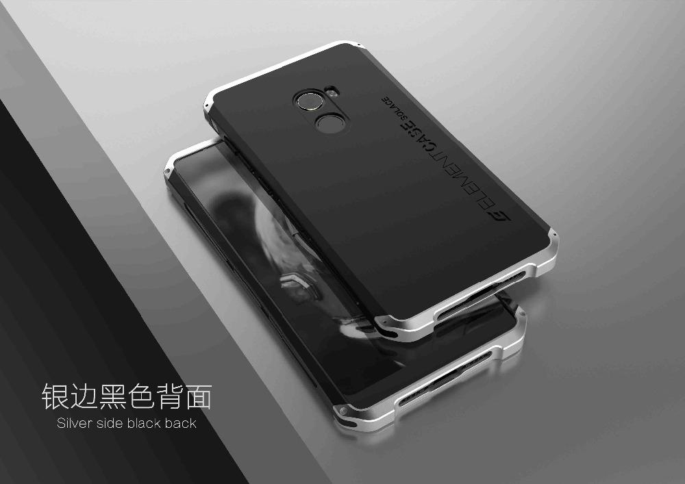 Luxury Aluminum Metal Frame Plastic Shockproof Protective Case For Xiaomi Mi MIX 2