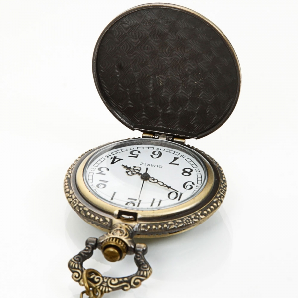 DEFFRUN Vintage London Eye Pattern Quartz Pocket Watch