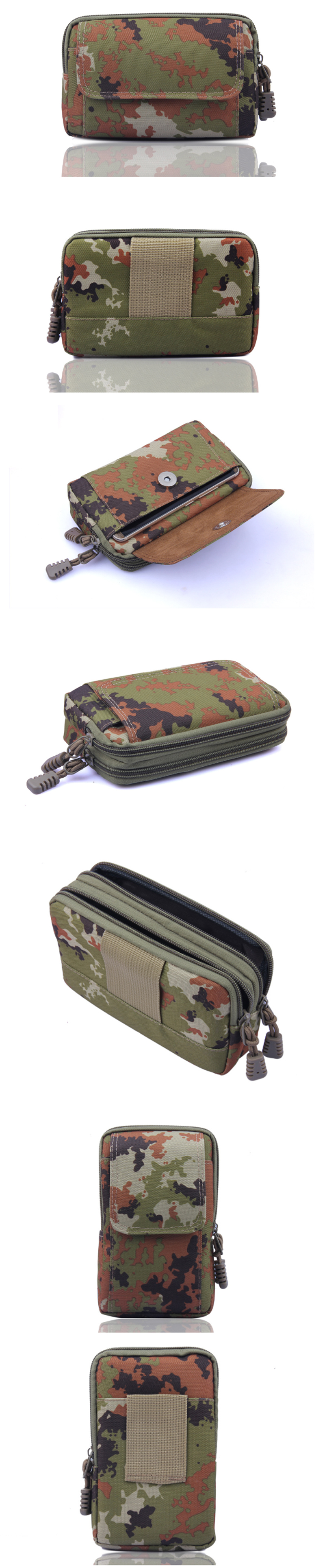 Couple Tactical Bag Camouflage Waist Bag Phone Bag Camping Hiking Hunting Pocket