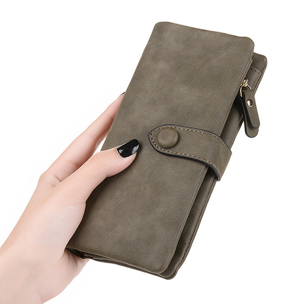 Retro Matte Buckle Ladies Wallet Bulk Card Holder Purse