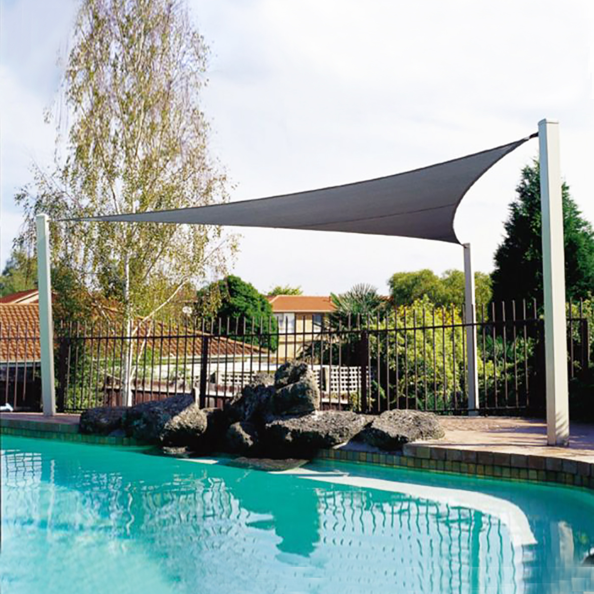 3.6M/5M Triangle Sun Shade Sail Outdoor Garden Patio UV Proof Awning Canopy Screen Cover