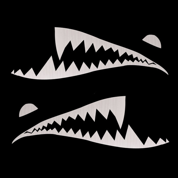 150cmx50cm Shark Month Teeth Vinyl Sticker Car Body Exterior Scratch Cover Decal Waterproof