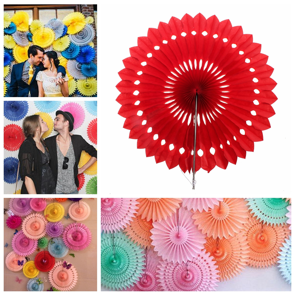 30cm 12'' 1pc Paper Wheel Fan Flower Pine Wheel Hollow Out Paper Wedding Party Decoration