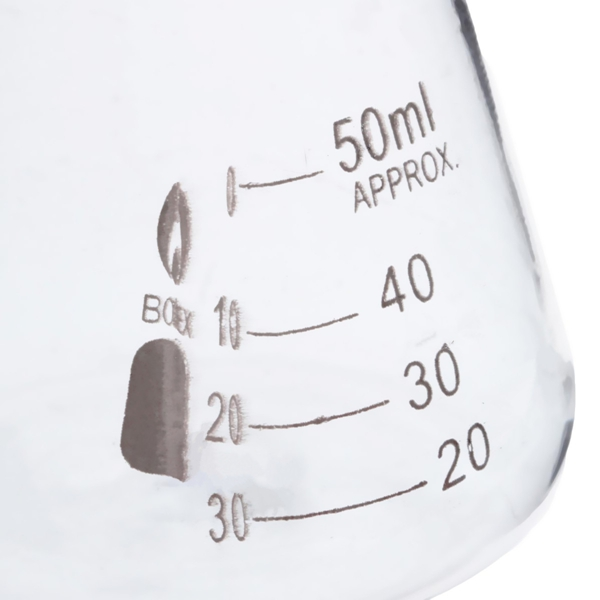 50ml Graduated Narrow Mouth Glass Erlenmeyer Flask Conical Flask 29/40 Ground Joints
