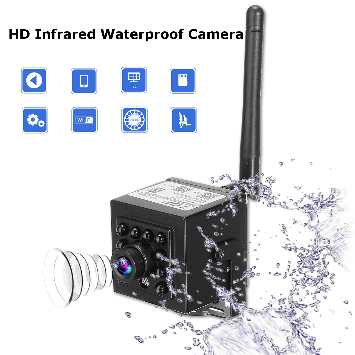 Mini 1.0 Megapixel 720P HD WIFI Hidden Network IP/P2P IR Night Vision Camera Pinhole Security Camera for Android iOS PC