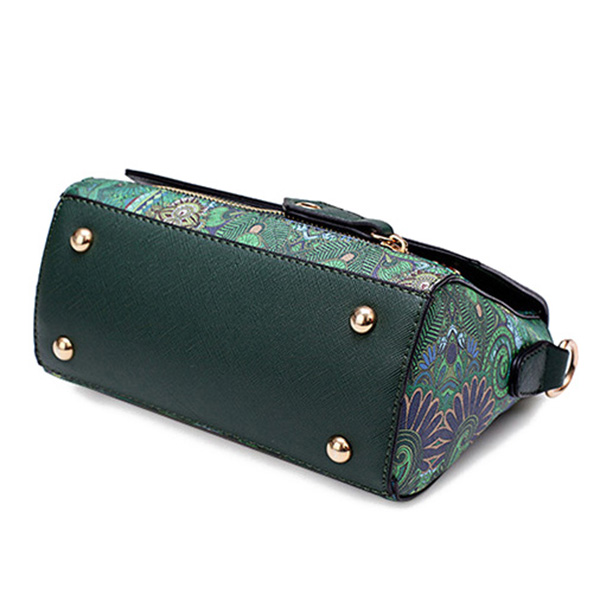 Women Bohemian Forest Series Print Crossbody Bags