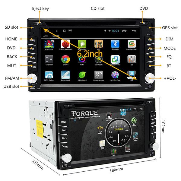 Junsun 2 din bluetooth Wifi HD Stereo Car DVD Player 3D GPS Navigator Touch Screen Free Map Update