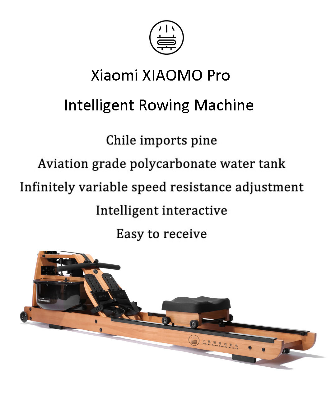 Xiaomi XIAOMO Pro Intelligent Rowing Machine Speed Adjustment Indoor Home Fitness Gym Arm Abdominal Muscle Trainer Boating Machine