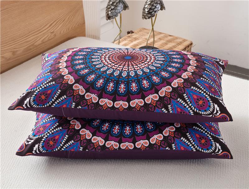 3pcs Bed Set Home Mandala Bedding Set Queen Sheets Soft Twill Bohemian Print Duvet Cover with Pillowcases