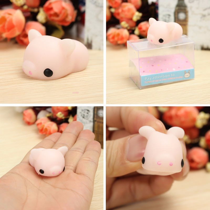 6PCS Chicken Duck Tiger Bear Seal Squeeze Squishy Healing Toy Collection Stress Reliever