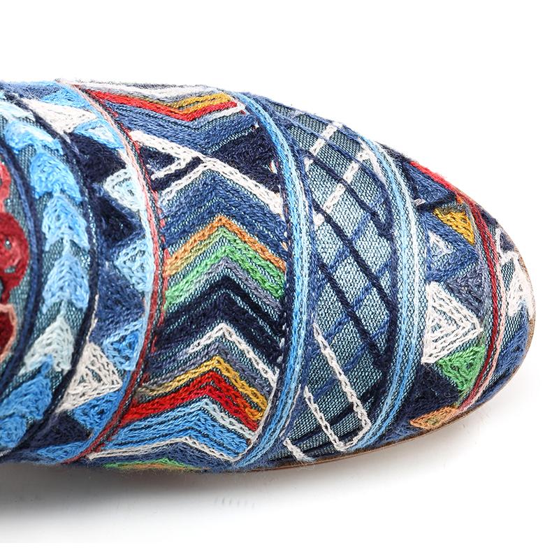 SOCOFY Bohemian Pattern Elastic Band Boots