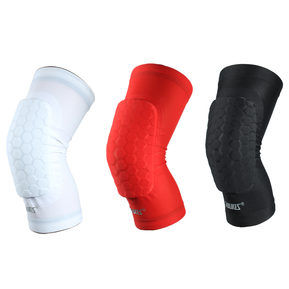 AOLIKES Hex Sponge Protective Knee Pads Basketball Leg Sleeves Compression Knee Braces Knee Pads