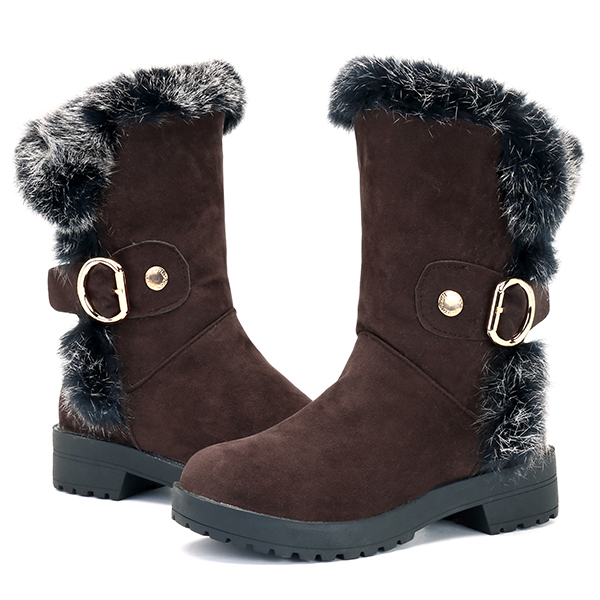 US Size 5-12 Women Mid-Calf Boots