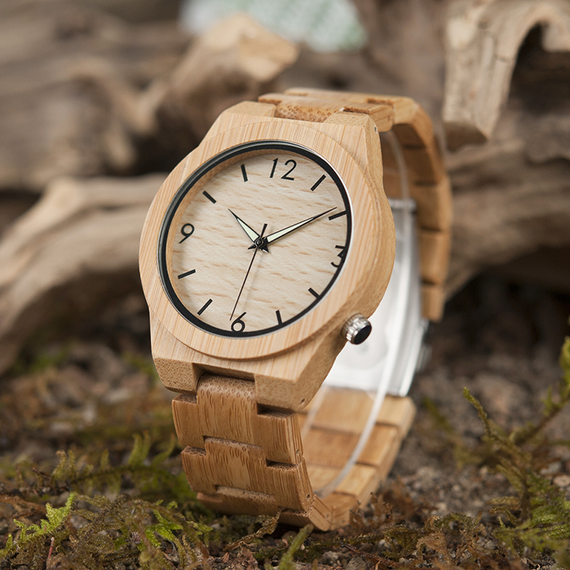 BOBO BIRD WD27 Bamboo Wooden Watch
