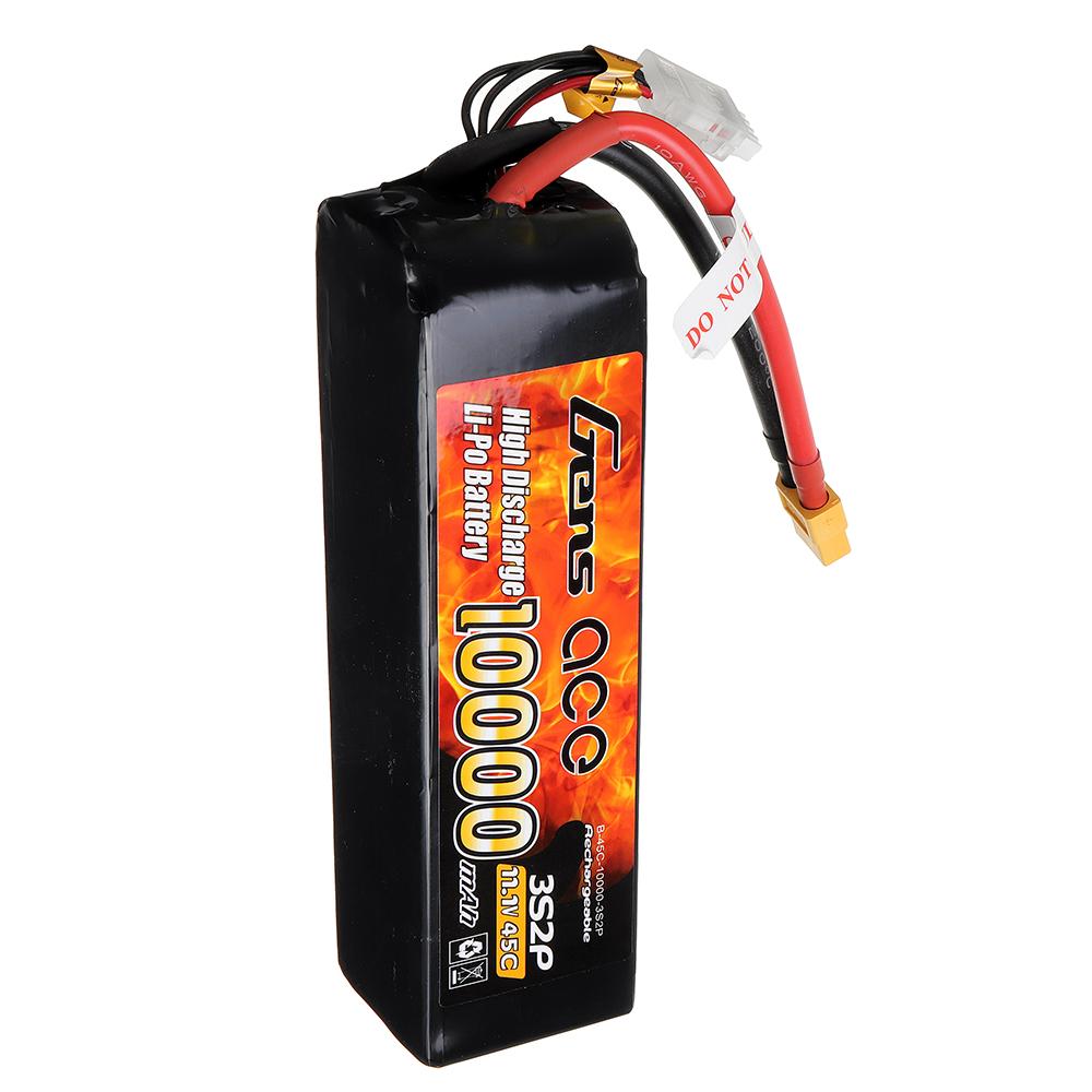 Gens ace 11.1V 10000mAh 45C 3S Lipo Battery XT60 Plug for RC Racing Drone