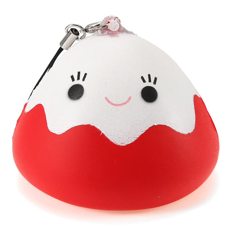 Squishy Mount Fuji Rice Ball Cake Slow Rising Collection Gift Phone Bag Strap Decor Soft Toy