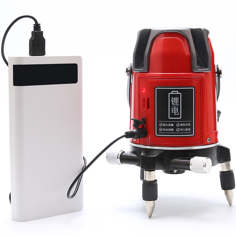 UNI-T LM550 5 Lines Red Laser Level 360 Degree Self-leveling Cross Laser Level 8 Times Brightness Touch Button