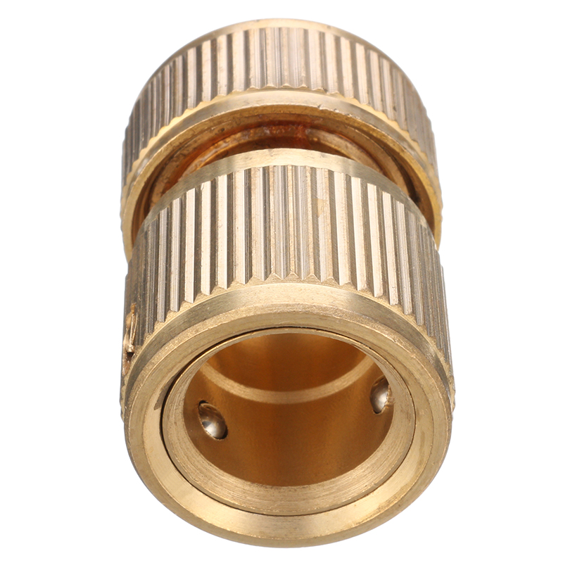 1/2 Inch Brass Water Tap Hose Pipe Connector Quick Hose Coupler Adapter with Water Stop