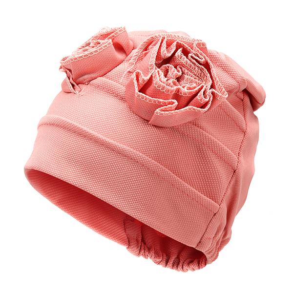 Women Flower Cotton Beanies Cap Solid Outdoor Windproof Hat