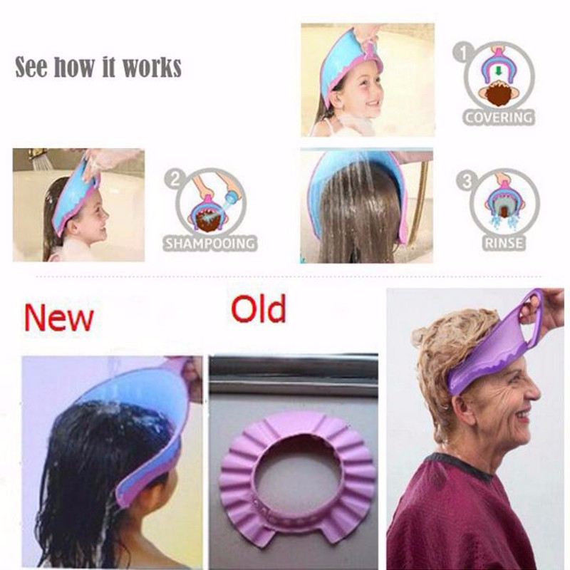 Adjustable Baby Shower Cap Protect Shampoo Kids Bath Visor Hat Hair Wash Shield for Children Infant