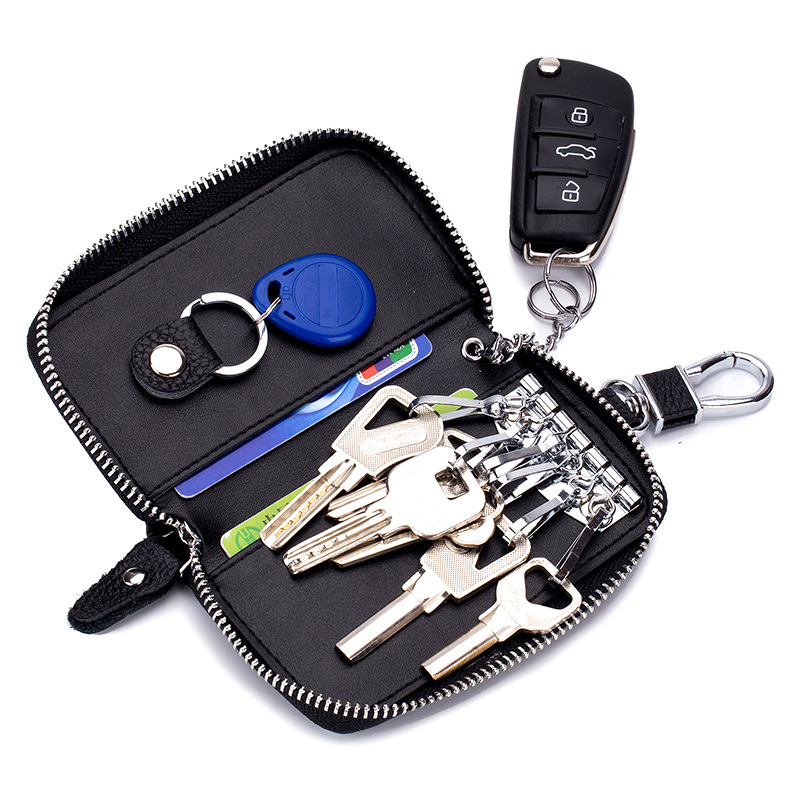 Multi-functional Genuine Leather Car Key Case Bag