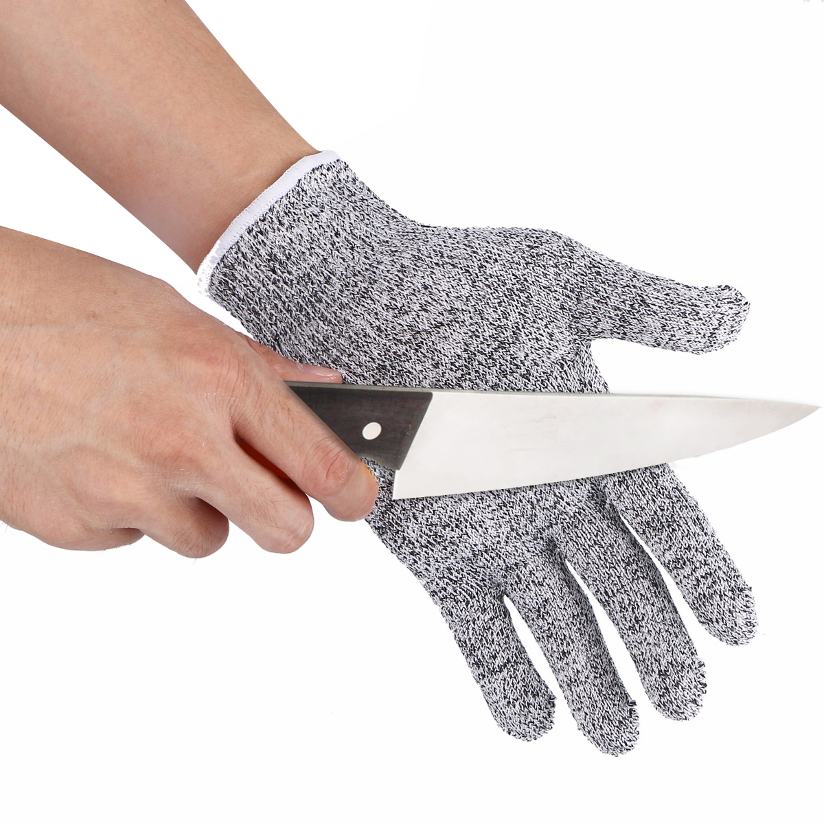 Nmsafety Cut Resistance Gloves Working Kitchen Level 5 Cut Protective Sandy Nitrile Gloves XL