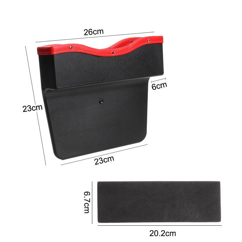 PU Leather Car Seat Gap Slit Storage Bag Box Car Seat Pocket Organizer