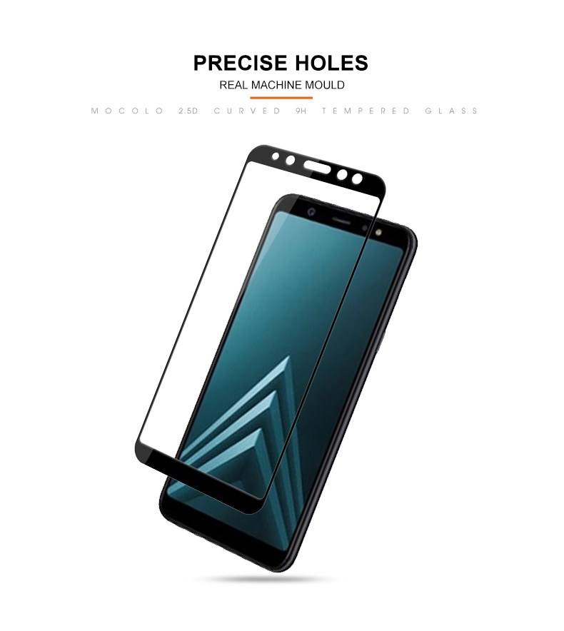 Bakeey 3D Arc Edge 9H Tempered Glass Screen Protector for Samsung Galaxy A6 Plus 2018