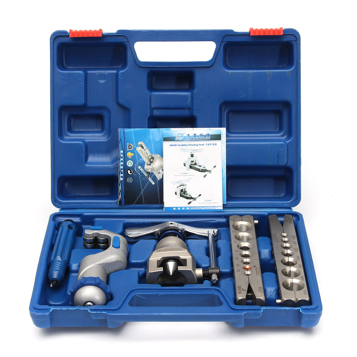 5-19mm Flaring Flare Tools Kit Refrigeration Eccentric Cone + Pipe Cutter W/ Case