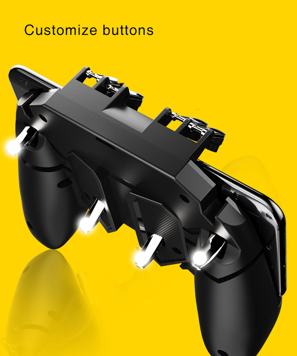 Gamepad Joystick Game Controller for PUBG Mobile Game for IOS Android Phone