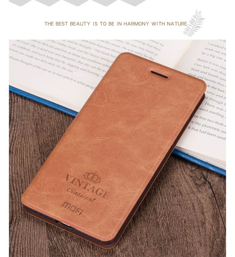 MOFI PU Leather Flip With Stand Card Slot Holder Protective Case For Xiaomi Pocophone F1