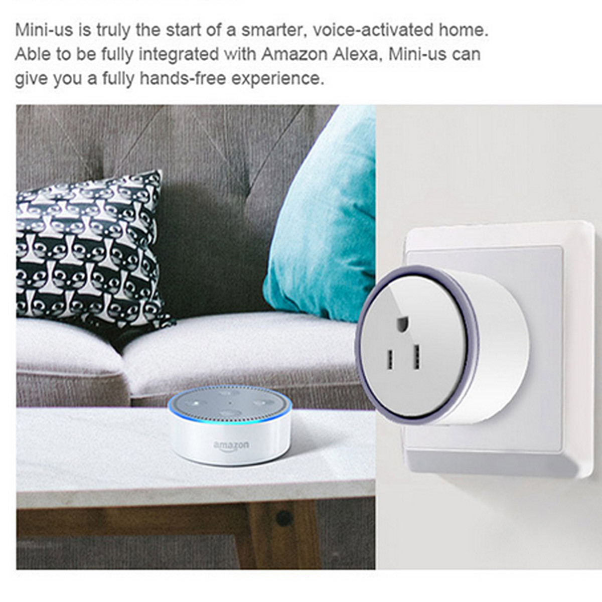 Mini Smart WiFi Socket Remote Control Switch Power Socket Outlet US Plug For Cellphone