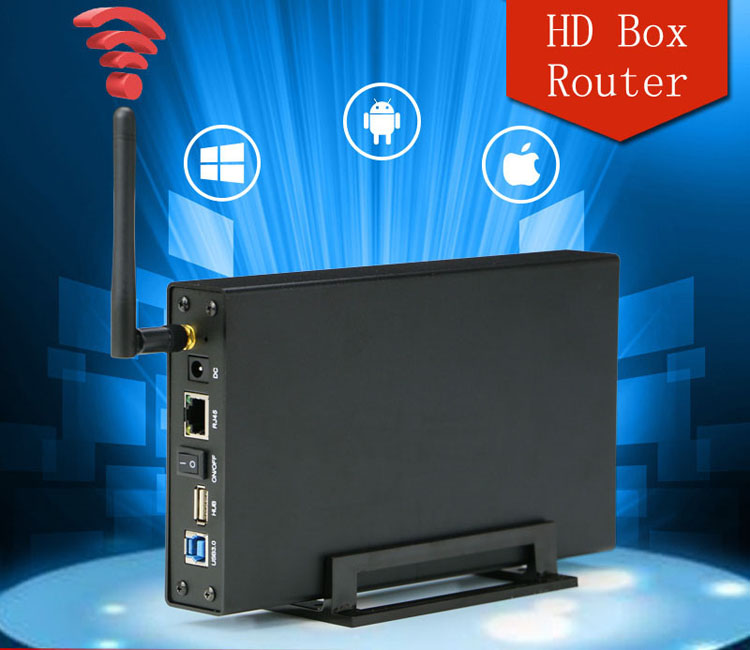 Blueendless BS-U35WF Wireless Storage Router With NAS Function Hard Drive Enclosure Box Black