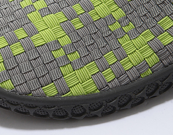 Unisex Casual Flat Shoes Sport Running Breathable Slip On Knitting Athletic Shoes