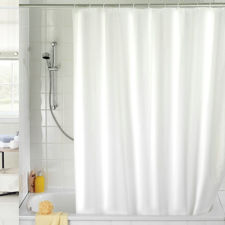 180x180cm Waterproof Shower Curtain Mold Resistant Plai