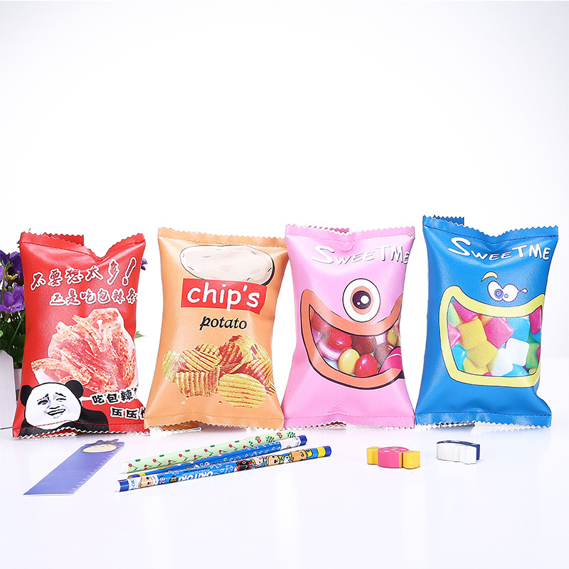 WAM PC-CB01 Potato Chips Pencil Case School Stationery Pencil Bag Pen Box for School children