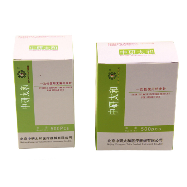 500pcs 0.25x40mm Disposable Sterile Acupuncture Needles Pin For Single Use