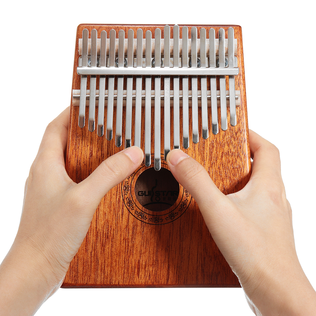 17 Keys Wood Kalimba Mahogany Thumb Piano Finger Percus