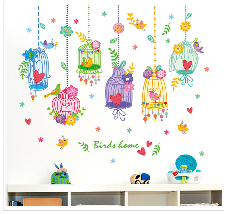 Children Birds Wall Stickers Birds Home Kids Room Decor Removable Birds Wall Stickers
