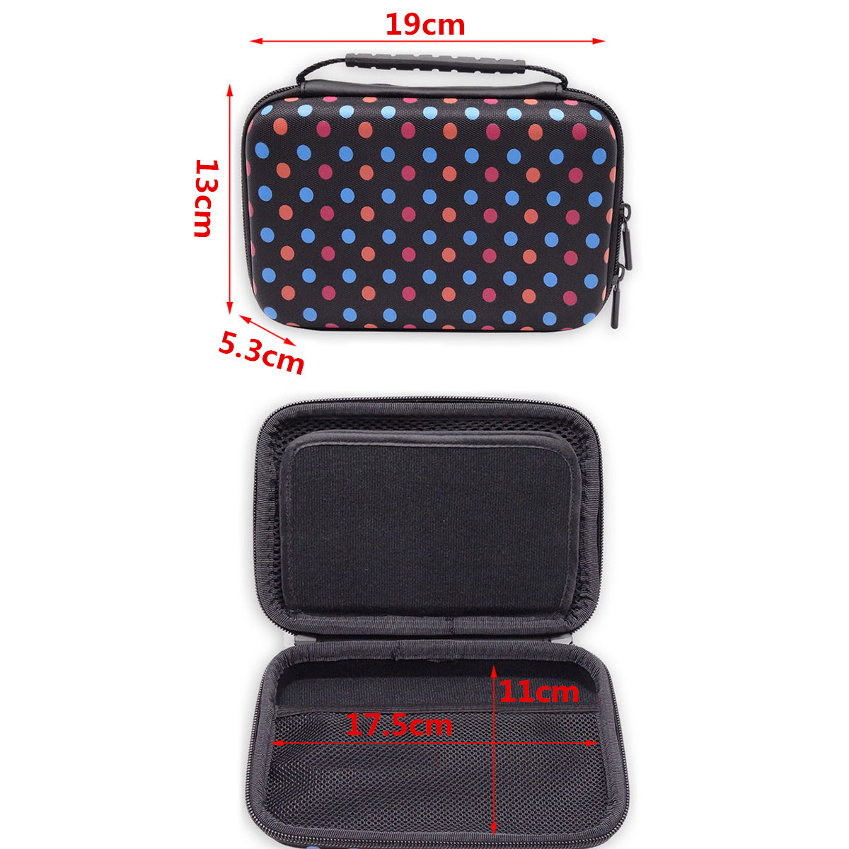 Hard Shell Shockproof Carrying Protective Case EVA Storage Bag Cover for Nintendo Switch 3DS XL 2DS XL Game Console Card Holders