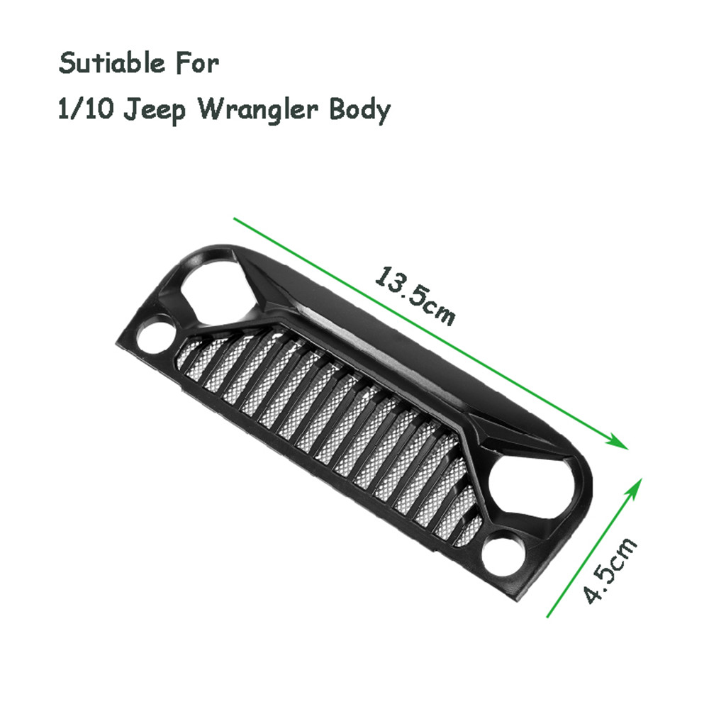 Air Inlet Grille Front Face For 1/10 RC Rock Crawler Axial SCX10 Jeep Wrangler
